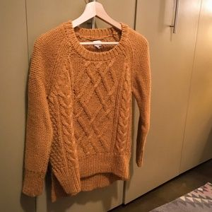 Wilfred | Cable-Knit Sweater - Golden Mustard, S